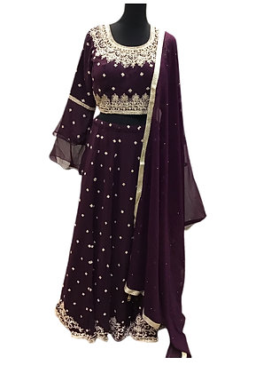 Gorgeous Georgette Purple Lehanga Choli