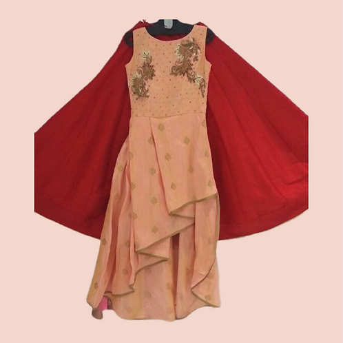 Designer High low Suit With Red Lehanga