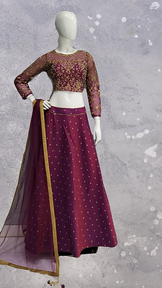 Purple Lehanga Choli