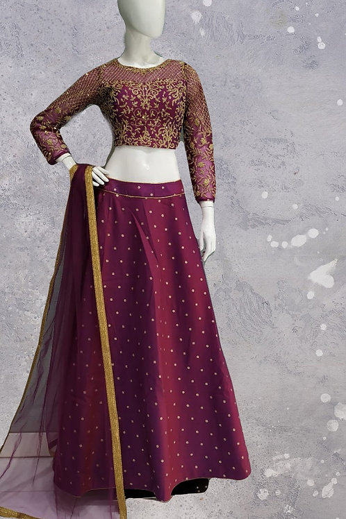 Purple Lehanga Choli