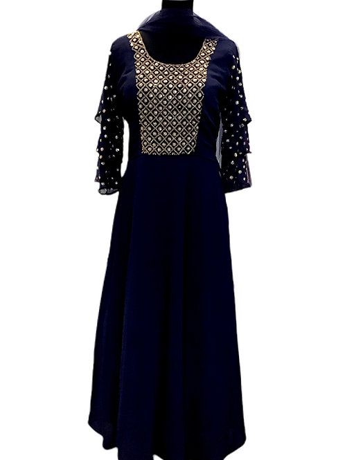 Pretty Blue Abaya Style Salwar Suit