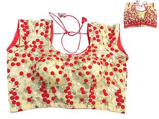 Gorgeous Red Golden Net Blouse