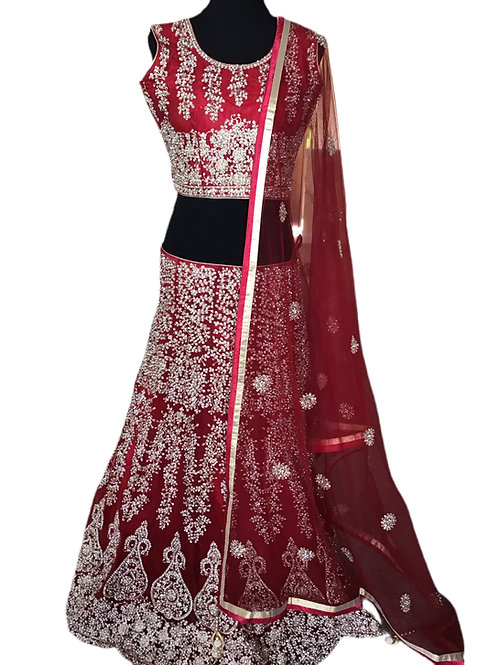 Exquisite Red Bridal Lehanga Choli