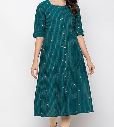 Sea Green Straight Kurti