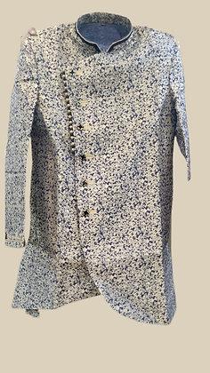 Designer Blue Indo-Western Kurta Pajama