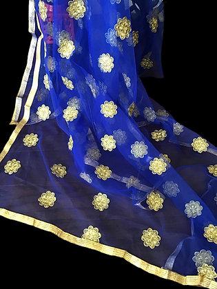 Gorgeous Royal Blue Net Dupatta