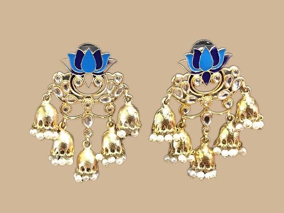 Enamel Filled Jhumki Earring
