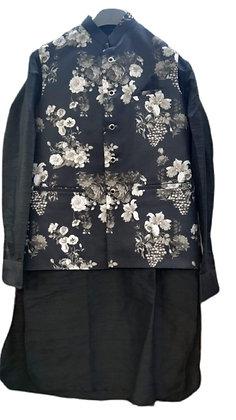 Elegant Black Kurta Pajama With Jacket