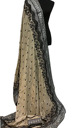 Chiffon Silk Embroidery Saree