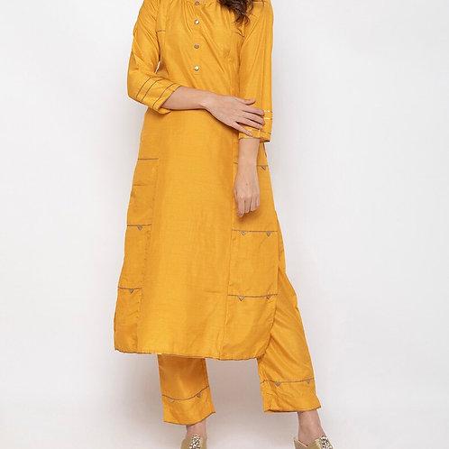 Pretty Yellow Plazzo Suit Set