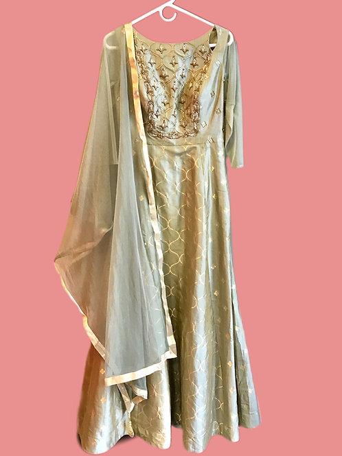 Designer Moss Green Salwar Suit