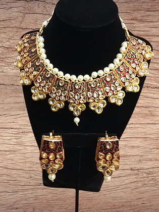 Kundan Red Choker Necklace