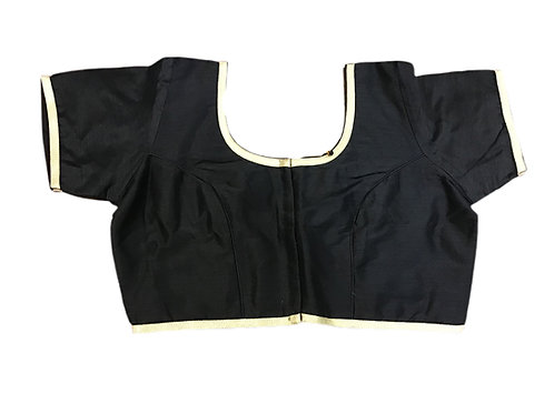 Black Silk Blouse in Plus Sizes