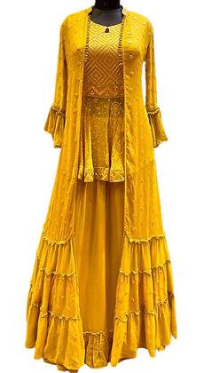 Trendy Yellow Lehanga Choli