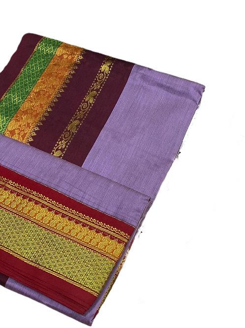 Glorious Handloom Cotton Silk Saree in Purple