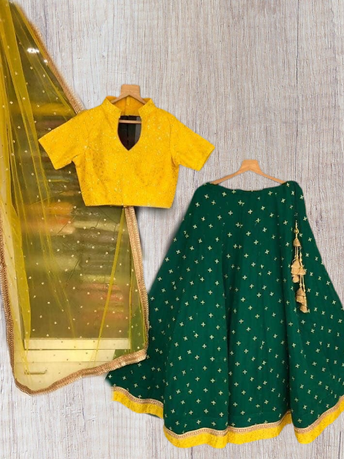 Yellow Green Chaniya Choli