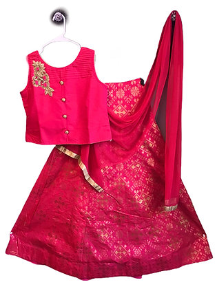 Girls Lehanga Choli In Red