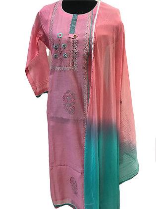 Pink Straight Suit Set