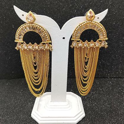 Golden Big Earring