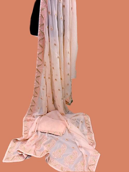 Peach color Saree