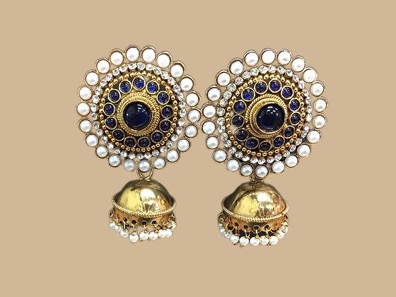 Beautiful Blue Jhumka Earring