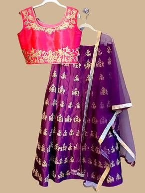 Attractive Pink Purple Lehanga Choli