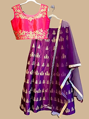 Attractive Pink Purple Lehanga Choli