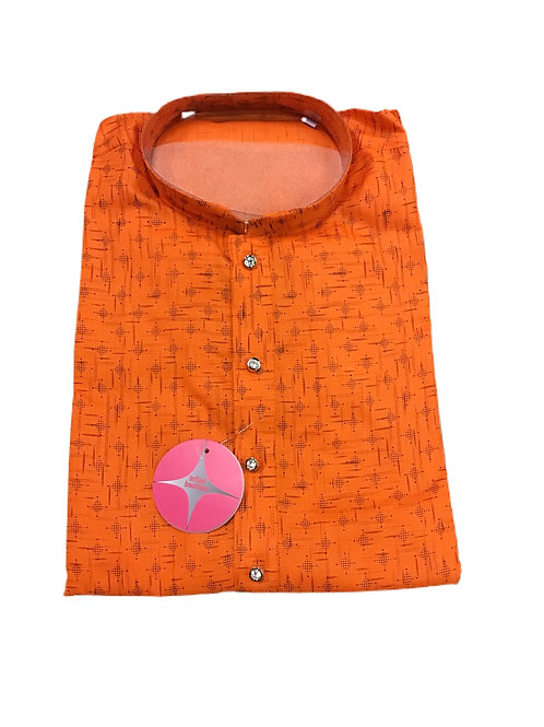 Orange Cotton Kurta