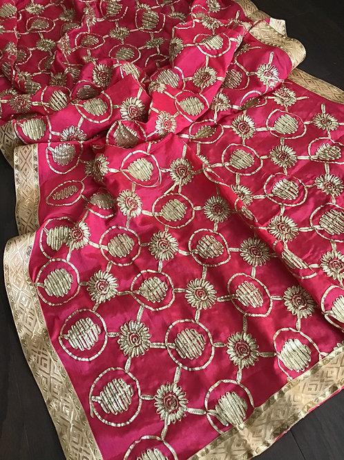 Party wear pink Chiffon Dupatta