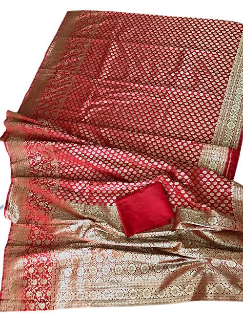 Gorgeous Banarasi Handloom Upada katan Silk Saree