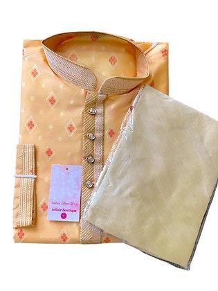 Elegant Peach Kurta pajama Set