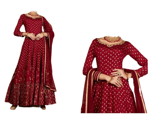 Gorgeous Maroon Salwar Suit