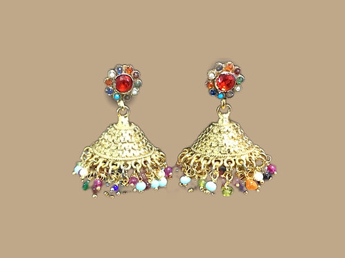 Multicolor Jhumka Earring