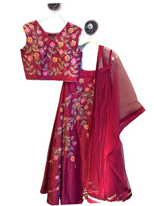 Designer Royal Red Lehanga Choli