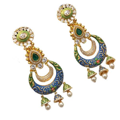 Chandelier Enamel Filled Earring