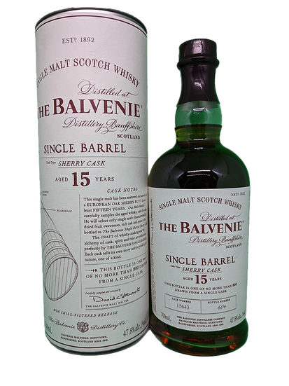 Balvenie 15YO Single Barrel Sherry 50ml Sample