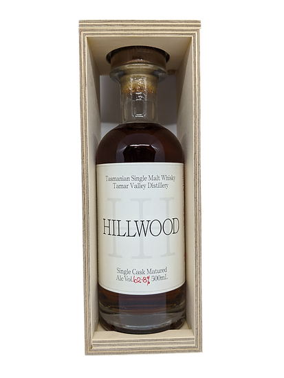 Hillwood Bourbon Cask 62.8% Tasmanian