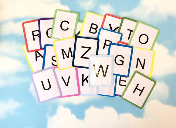 Uppercase Letters Flash Cards