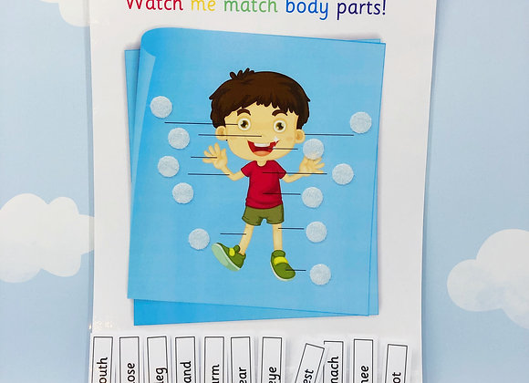 Body Matching - Learn Body Parts - Learning Sheets - Matching Game