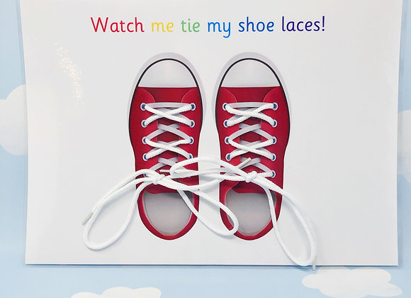 Learn to Tie Shoe Laces - Tie Bootlaces - Tie My Shoes - Prepare for School