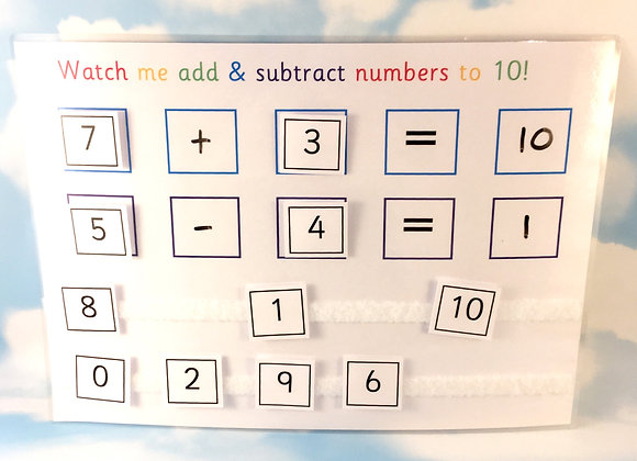 Add & Subtract Numbers to 10