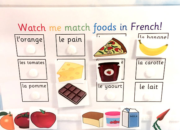 French Foods Learning Sheet