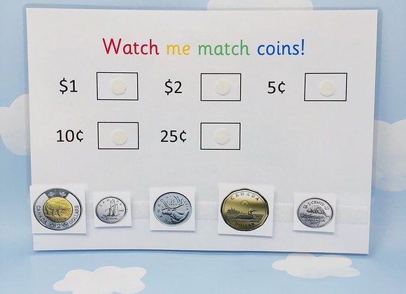 Canadian Coins - Learn Coins - Learning Sheet - Money - Maths Games