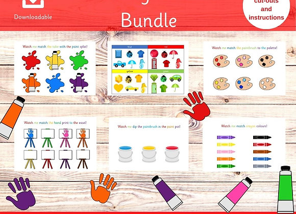 Learning Colours Bundle - Preschool learning - Printable worksheets - Busy Book