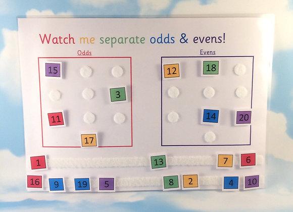 Odds & Evens Learning Sheet