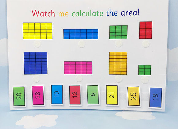 Calculating Area - Learning Sheet - KS2 - Matching Activities - Measure Area