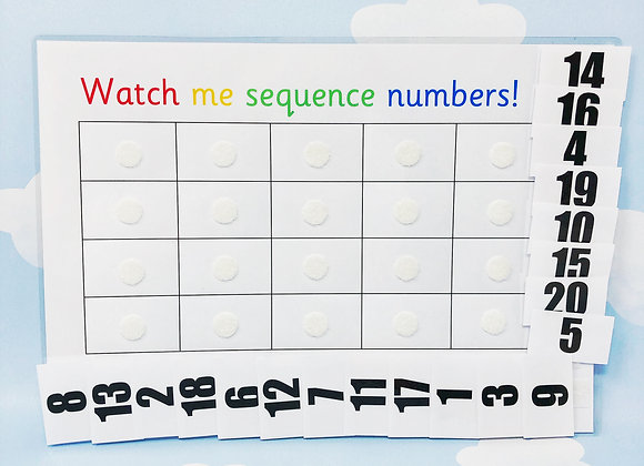 Number Matching To 20 - Sequence Numbers - Learn Numbers - Numeracy - Toddler