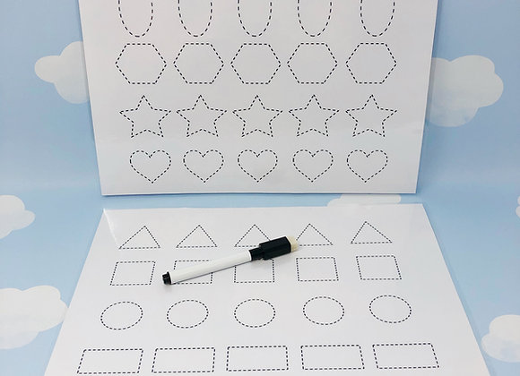 Printable Download - Shapes Tracing - Learning Sheet - Learning Resource