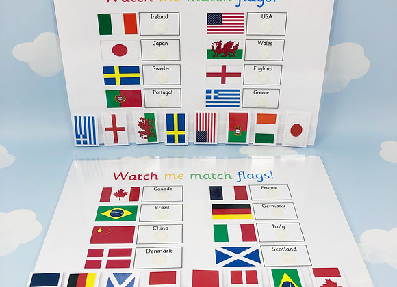 World Flags - Country Flags - Learning Sheet - Countries of the World