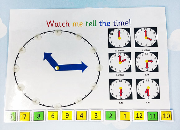 Telling The Time - Kids Clock - Starting School - Reception Learning - Time